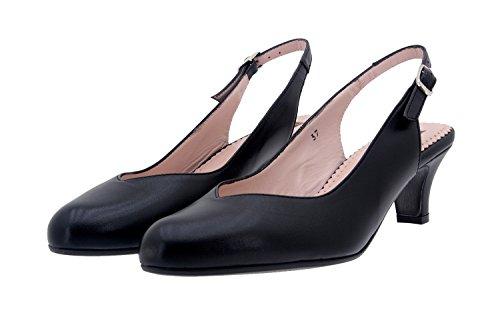 Komfort Damenlederschuh Piesanto 8229 pumps schuhe bequem breit Schwarz
