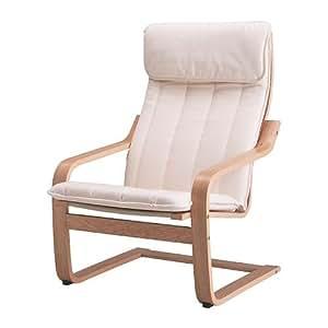 Ikea Poang Armchair Oak Veneer Alme Natural Amazon Co