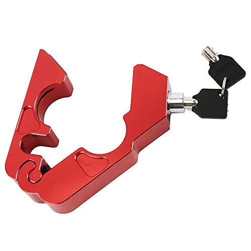 KKmoon Candado Antirrobo Moto para Embrague de Freno Manillar Bloqueo Dispositivo Antirrobo con Dos Llaves