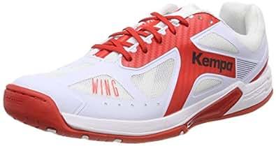 Kempa Wing Lite Women Ebbe & Flut Handball Shoes, White (Weiß/Lighthouse Rot 04), 3.5 UK