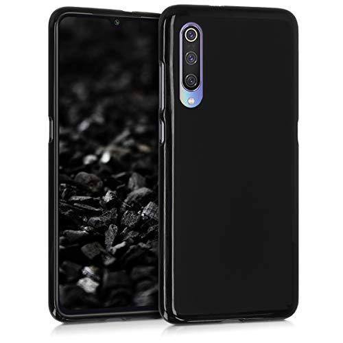 kwmobile Funda para Xiaomi Mi 9 - Carcasa para móvil en [TPU Silicona] - Protector [Trasero] en [Negro Mate]