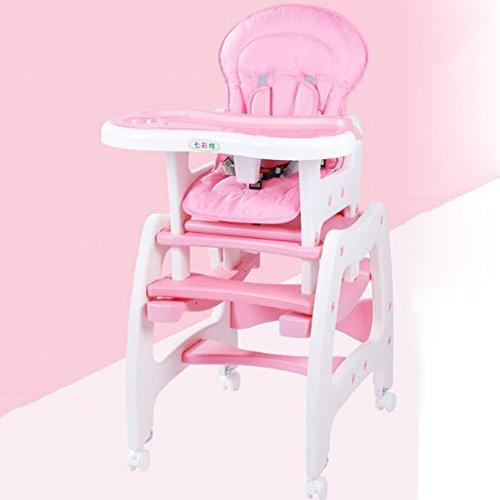 Brisk- 3 In 1 Babystuhl, Esszimmerstuhl Für Kinder, Multifunktion, Babystuhl, Esstische Und Stühle Essen, Sitze Mit Schaukelpferd Rollen ( Farbe : Pink ) (Hochstuhl Abdeckung Sommer)