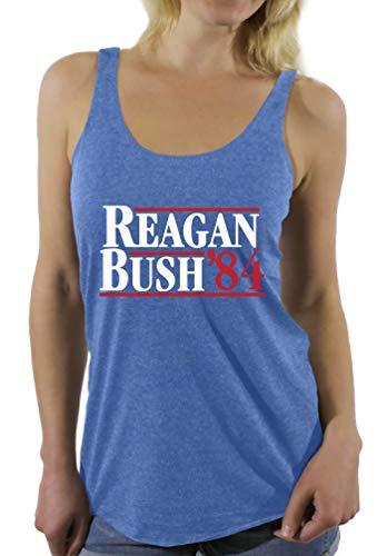 Awkward Styles Damen Tank-Top Reagan Bush '84 Sprüche Racerback - Blau - XX-Large (Reagan-bush-tank-top)