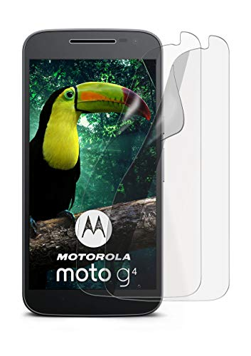 2X Lenovo Moto G4   Schutzfolie Matt Bildschirm Schutz [Anti-Reflex] Screen Protector Fingerprint Handy-Folie Matte Bildschirmschutz-Folie für Motorola Moto G4/G4 Plus Bildschirmfolie