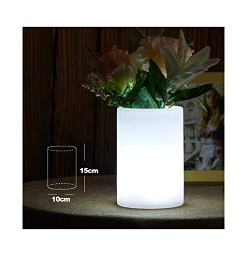 HARDY-YI Tisch LampLED Licht Vase Lampe Schreibtischlampe Kreative Lade Restaurant Dekoration Leselampe Bunte KTV Bar -718Schreibtischlampen (Farbe : C)