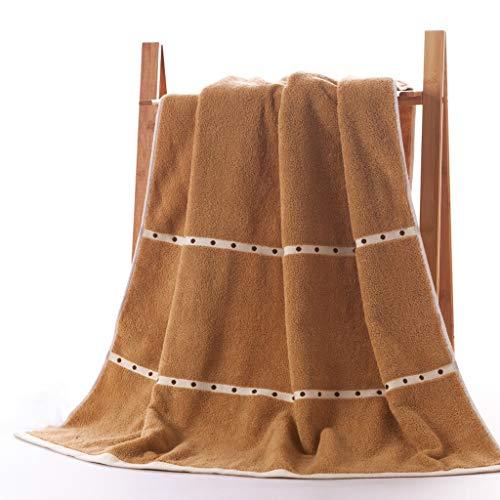WYQ Handtücher Soft Luxury Bath Sheet, Baumwolle Hohe Wasseraufnahme Schnell trocknend Atmungsaktiv Mehltaubeweis Strandtücher, Multifunktions Extra große Badetücher Duschtücher (Farbe : Brown)