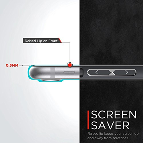 iPhone 7 Case, X-Doria (Edge Défense) Case pour iPhone 7, Frame Slim, Dual Protection, absorbant les chocs, résistant aux rayures, Premium de protection iPhone 7 Case(Gris) or rose