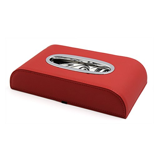 sourcingmap® Auto rot Kunstleder Gesichtsgewebeskasten Halter Serviette Aufbewahrungskasten DE de