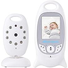 XCSOURCE® Supervisar el Cuidado del Bebé 2.4G Monitor de Bebé Digital Inalámbrico es Función de Visión Nocturna con Clavijas de los Cables de Intercomunicación + 2 Enchufe el Cable de Carga AH006