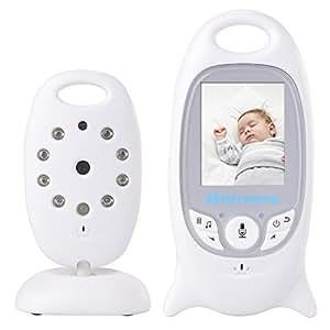 """XCSOURCE® Bébé Moniteur 2"""" LCD Couleur Babyphone 2.4 GHz Vidéo Numérique Baby Monitor + Caméra Vidéosurveillance Sans Fil 2 Voies IR Audio Bidirectionnelle avec 2.0 Nocturne Sécurité Blanc AH006"""