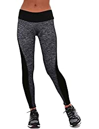 Modaworld Mallas Deportivas Mujer Leggins Yoga Pantalones Deportivos Mujer  Polainas Atlético gimnasio entrenamiento fitness yoga leggings ccf6b8397d319