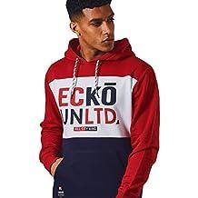 Hombres ECKO UNLTD Lana Gráfico Camisa de entrenamiento Casual Deporte Tracktop Sudadera MILLBROOK 6HumFo