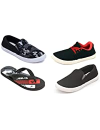 Nexa Fashion Combo of 3 Pairs Shoes + 1 Flip Flops (IND-7) (4 Pairs)