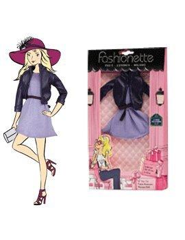"""Preisvergleich Produktbild Fashionette """"Lily"""" Lederjacke und Rock, Fashion Kleider für Barbie, Disney Dolls, Liv"""