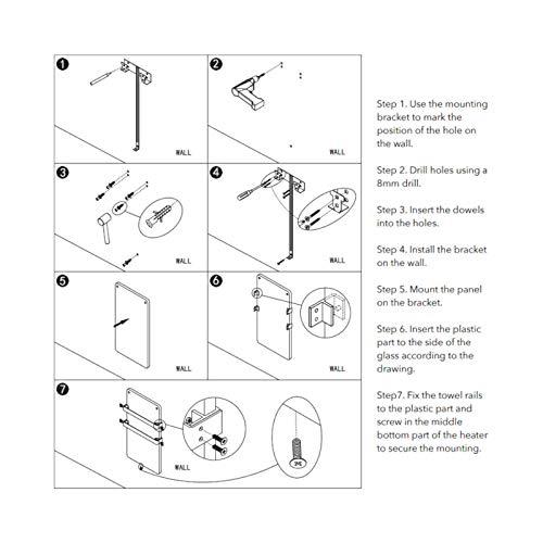 44x86cm Bad-heizkörper mit Handtuchhalter Edelstahl Heizung Handtuch-trockner Bild 5*