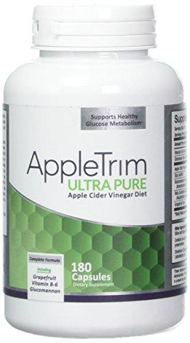 Appletrim Ultra Pure 180 Kapseln – Apfelessig Kapseln Zum Stoffwechsel Anregen – Apfelessig Kur Als Natürlicher Fatburner Zum Abnehmen Für Männer Und Frauen