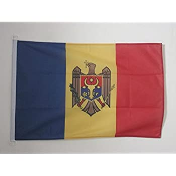 MOLDAUISCHE FAHNE  60 x 90 cm flaggen AZ FLAG Top Q FLAGGE MOLDAWIEN 90x60cm