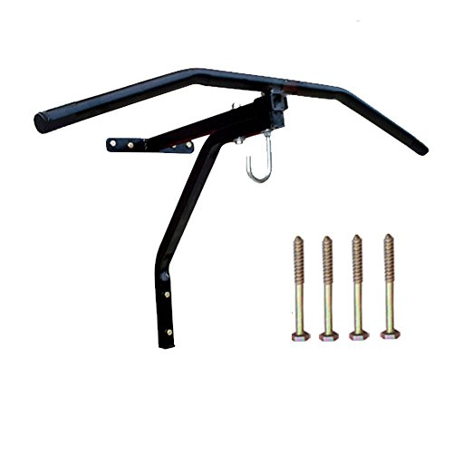 2in 1Boxsack Wandhalterung mit Pull Up Bar für Klimmzüge Heavy Duty Metall mit Komplettes Montage
