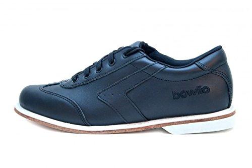 Bowlingschuhe - Bowlio Nero - aus Leder mit Ledersohle Schwarz