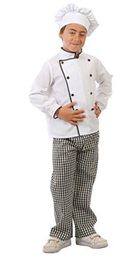 Koch Kind Kostüm - Guirca-Kostüm Koch, Größe 7-9Jahre, Weiß (81582)