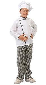 Guirca - Disfraz de cocinero, talla 7-9 años, color blanco (81582)