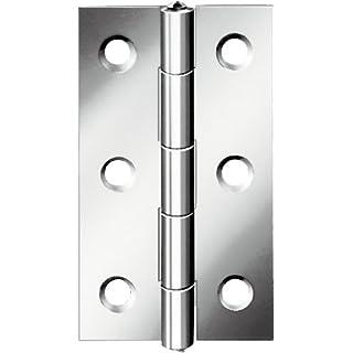 August Vormann Interior Fittings Half-width Hinge Stainless Steel, 50x 39x 1.1mm 48527