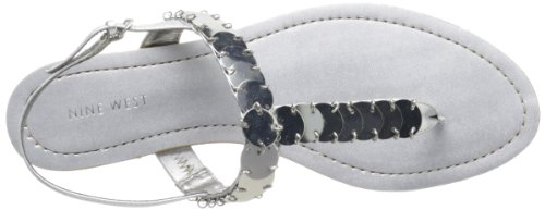 Nine West, Sandali donna Silver Synthetic