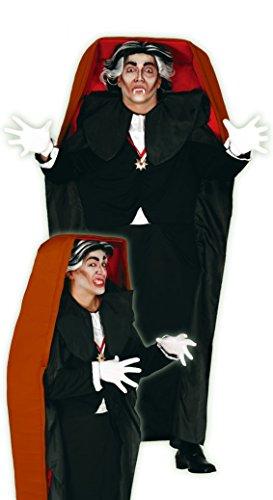 Vampir-Kostüm mit Graf Dracula Sarg im Fall
