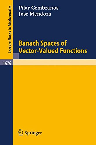 Banach Spaces of Vector-Valued Functions (Lecture Notes in Mathematics)