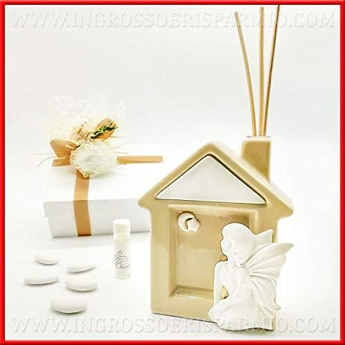 Ingrosso e Risparmio Grob- und Duft-Duft-Diffuser in Avana-Form mit weißer Fee, Geschenke, ideal für Frauen, mit Geschenken Kit 1 pz.
