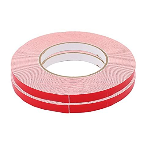 DealMux 2 Pcs 10M Length 10mm Dual Side Adhesive White PE Foam Tape for LED Board