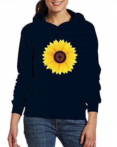 Sunflower Womens Hoodie Fleece Custom Sweartshirts green