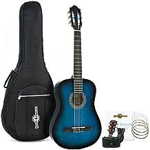 Guitarra Española Deluxe Junior de 1/2 de Gear4music + Accesorios Azul