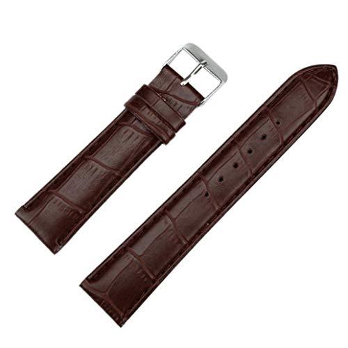 JiaMeng Correas para de Reloj de Pulsera de Correa de Cuero de Hombre de Moda de 20 mm para Pulsera de Actividad (Caf¨¦,20MM)