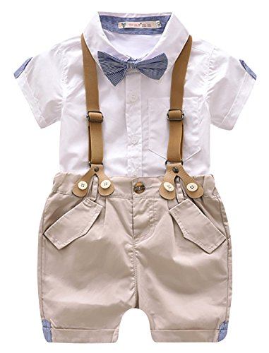 Luoting - 4pcs Conjunto Ropa Bautizo Camiseta Pantalones