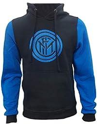 Perseo Trade Felpa Inter Nera con Cappuccio Abbigliamento FC Internazionale  PS 27859 bc881520bbb9