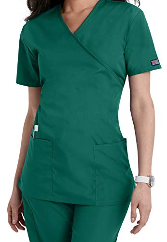 Hunter Scrubs (Smart Uniform Women's 1224 Scrub Modern Fit Mock Wrap Top (XXL, Jäger [Hunter]))