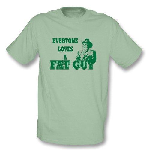 TshirtGrill Chef Hogg - jeder liebt ein fettes Xx-Großes Kerlt-shirt, Farbe- Ruhiges Grün (T-shirt Unisex Grünen Ruhigen)