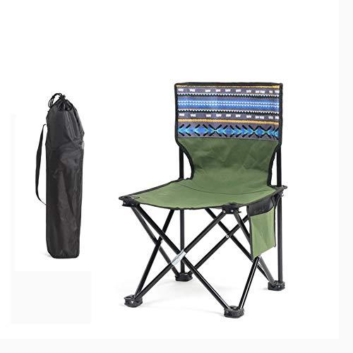 YUWJ Camping hocker Falten tragbare licht Camp hocker im freien billig tragbaren klappstuhl geeignet für Strand Grill Reise Picknick,E,Large