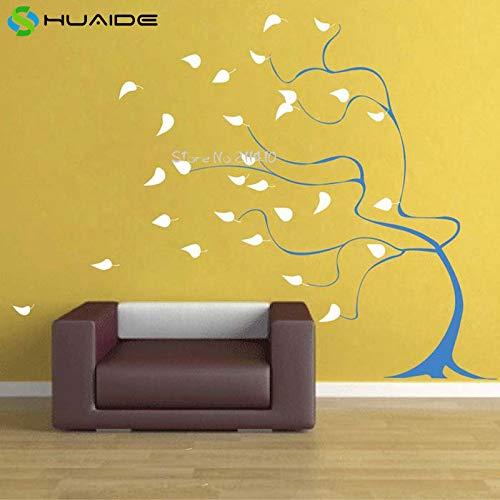 zhuziji Liebevoll Windigen Baum Wandaufkleber Für Kinderzimmer Benutzerdefinierte Farbe Abnehmbare Vinyl Babyzimmer Wandtattoo Vinilos Parede Wand Tatt lila 188X152 cm