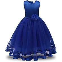 Lonshell – Vestido de fiesta estilo princesa para niña (Azul ...