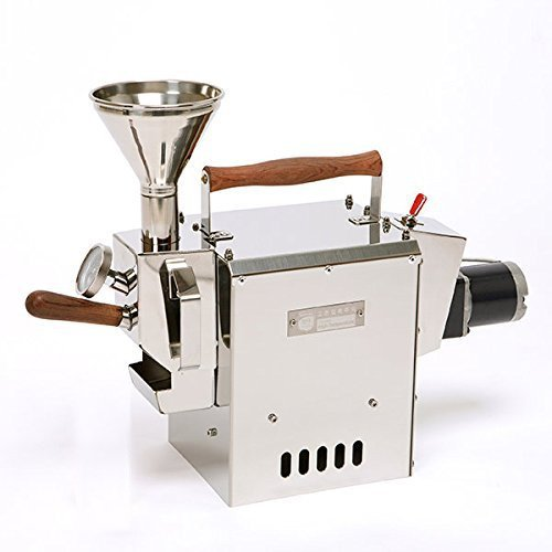 KALDI WIDE size (300g) Home Coffee Roaster Motorize Type Full Package Including Thermometer, Hopper, Probe Rod, Chaff Holder (Gas Burner Required) by KALDI