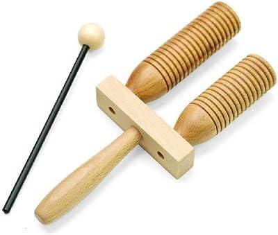 Rohema 61544 Wooden AGOGO - 2-Tone Agogo (pequeño)