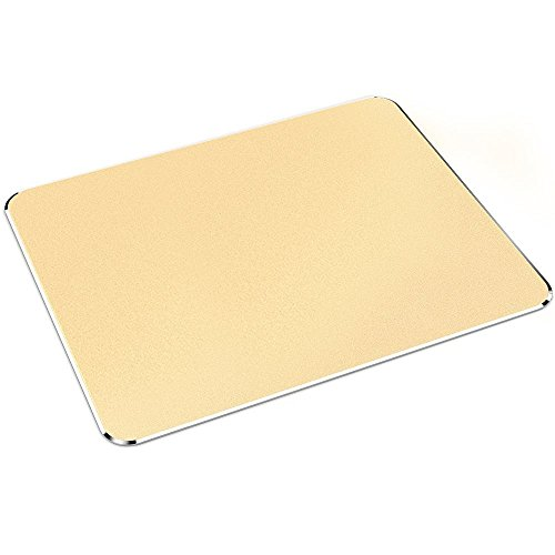 Mauspad, Nulaxy Gaming Aluminum Mouse Pad W Non-slip Rubber Base & Micro Sand Blasting Aluminium Waterproof Surface for Fast and Accurate Control (Gold)