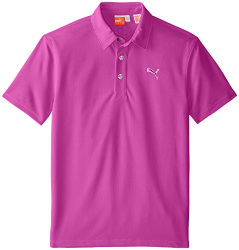 PUMA Golf Junior Jungen Tech Polo Shirt, Jungen, Vivid Viola, X-Small -