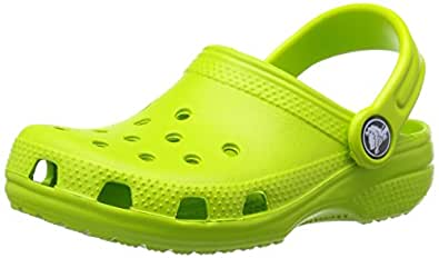 Crocs Classic Unisex Kids' Clogs - Green (Volt Green), 4/5 UK Child