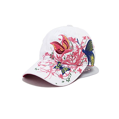 Imagen de leisial  de béisbol de señora del verano patrón de bordado de mariposa sombrero de sol de hip hop aire libre gorro visor para mujeres chicas