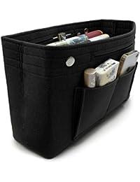 VANCORE Bag in Bag Organizer Borsa Organizzatore Donne, 8 tasche feltro borsa organizer, Nero, Grande