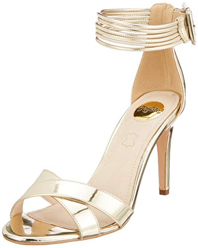 Buffalo Damen Amina Riemchensandalen, Light Gold 000, 41 EU -