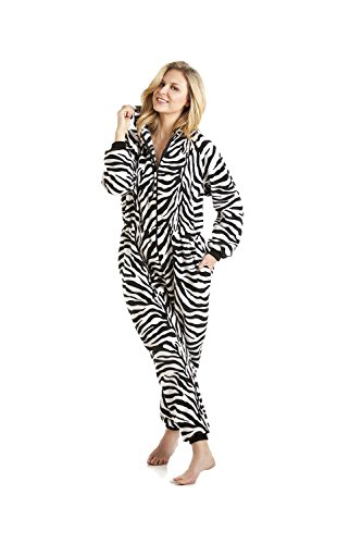 Damen Schlafanzug-Einteiler - Mit Zebra-Muster 42/44, Etikette Gr:M -